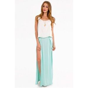 Tobi Double Slit Maxi Skirt
